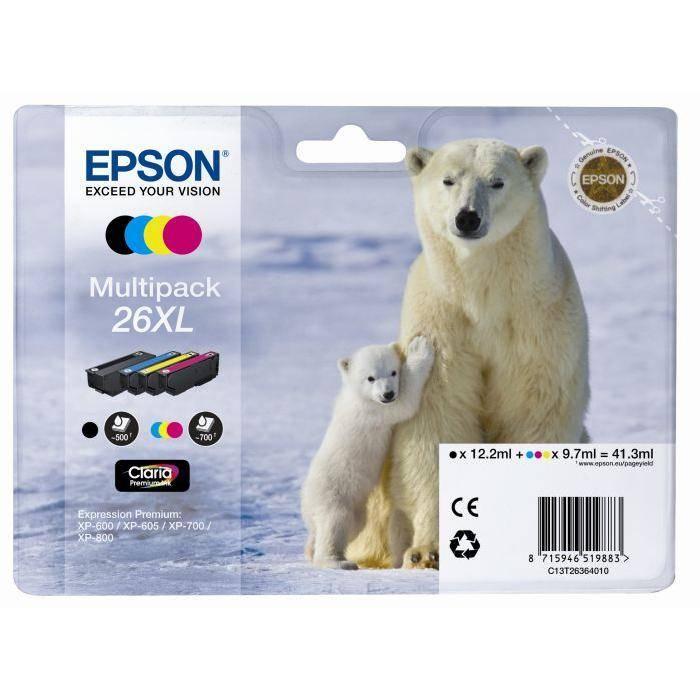 cartouches epson t26 ours polaire