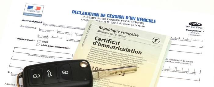 Déclaration de cession d'un véhicule à Hyères dans le var